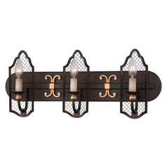 Metropolitan Cortona French Bronze W/ Gold Highligh Bathroom Light