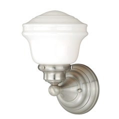 Huntley Satin Nickel Sconce by Vaxcel Lighting