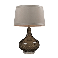 Table Lamp in Coffee Smoked Finish