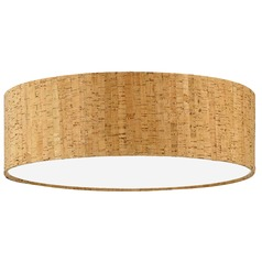 Natural Cork Drum Lamp Shade with Spider Assembly