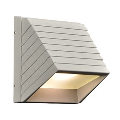 Plc Lighting Le Doux Silver LED Outdoor Wall Light
