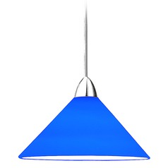 WAC Lighting Contemporary Collection Chrome LED Mini-Pendant with Conical Shade