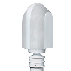 Frosted Ribbed Glass Post Light White Costaluz by Besa Lighting