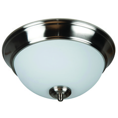 Jeremiah Pro Builder Flush Brushed Polished Nickel Flushmount Light