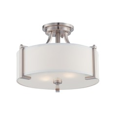 Designers Fountain Axel Satin Platinum Semi-Flushmount Light