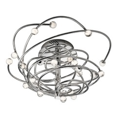 Elan Lighting Lexiko Chrome LED Semi-Flushmount Light