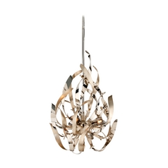 Corbett Lighting Graffiti Silver Leaf and Poli Pendant Light