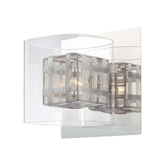 Sconce with Woven Metal Shade
