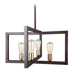 Feiss Lighting Finnegan New World Bronze Pendant Light