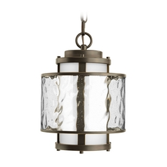 Progress Outdoor Hanging Light with Clear Glass in Bronze Finish
