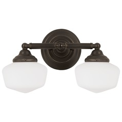 Sea Gull Lighting Academy Heirloom Bronze Bathroom Light