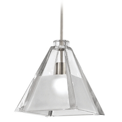 WAC Lighting European Collection Brushed Nickel Track Pendant