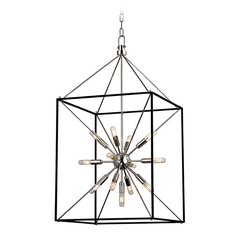 Industrial Pendant Light Polished Nickel Glendale by Hudson Valley Lighting