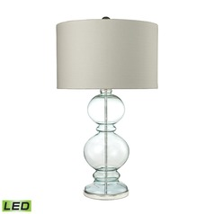 Dimond Lighting Light Blue LED Table Lamp with Drum Shade
