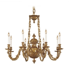 Chandelier in Classic Brass Finish