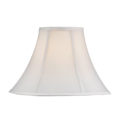 White Silk Bell Lamp Shade with Spider Assembly