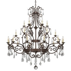 Savoy House New Tortoise Shell Crystal Chandelier