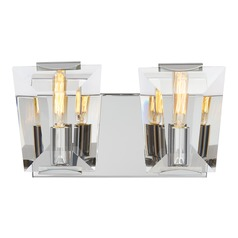 Metropolitan Castle Aurora Polished Nickel Bathroom Light