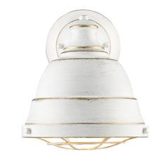Golden Lighting Bartlett French White Sconce