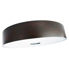 Modern Flushmount Light with Brown in Matte Chrome Finish