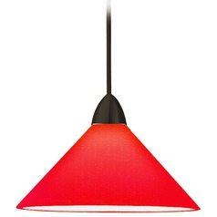 WAC Lighting Contemporary Collection Dark Bronze LED Mini-Pendant with Conical Shad