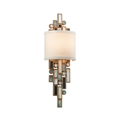 Corbett Lighting Modern Sconce Wall Light in Dolcetti Silver Finish 150-11