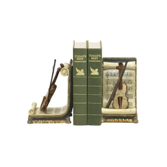 Sterling Lighting Violin Decorative Musical Bookends 91-1613