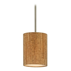 Design Classics Lighting Cork Drum Shade Mini-Pendant Light DCL 6542-09 SH9473