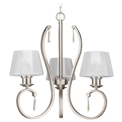 Progress Lighting Dazzle Brushed Nickel Chandelier