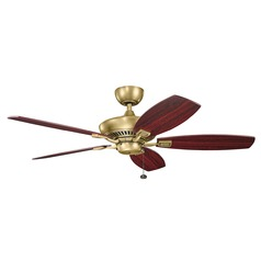 Kichler Lighting Canfield Natural Brass Ceiling Fan Without Light
