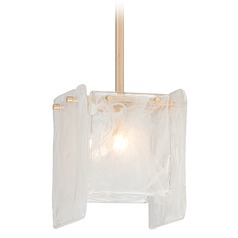 Metropolitan Arctic Frost Antique French Gold Mini-Pendant Light