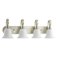 Quorum Lighting Bryant Aged Silver Leaf Bathroom Light