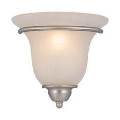 Frosted Seeded Glass Sconce Brushed Nickel Vaxcel Lighting