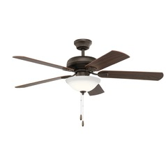 Kichler Lighting Ezra Satin Natural Bronze LED Ceiling Fan with Light