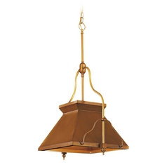 Pendant Light in Antique Brass Patina Finish