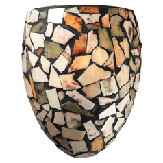 Sconce Wall Light with Multi-Color Shade in Dark Rust Finish
