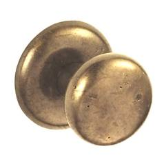 Sand Cast Half-Round Door Knob Privacy Set