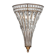Crystal Sconce Wall Light in Mocha Finish