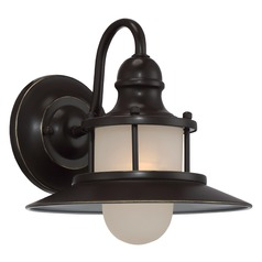Farmhouse Nautical Outdoor Wall Light Bronze New England by Quoizel Lighting