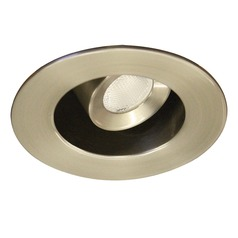 WAC Lighting Ledme Miniature Recessed Brushed Nickel LED Recessed Trim