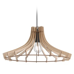 Arnsberg Wood Pendant Light with Coolie Shade
