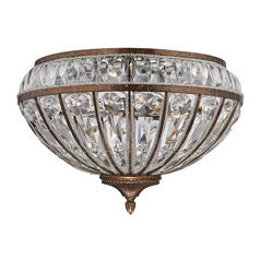 Crystal Flushmount Light in Mocha Finish