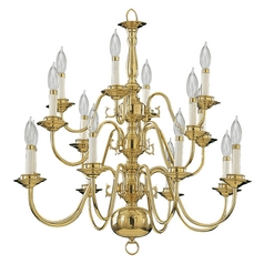 Quorum Lighting Polished Brass Chandelier