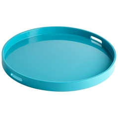 Cyan Design Estelle Teal Lacquer Tray