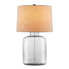 Currey and Company Lighting Rob Clear Table Lamp with Drum Shade