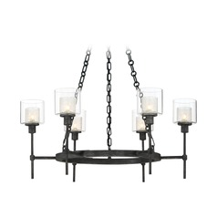 Designers Fountain Cazadero Weathered Pewter Chandelier