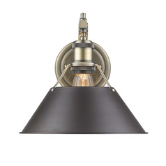 Golden Lighting Orwell Ab Aged Brass Sconce