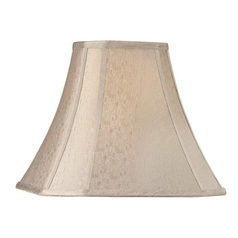 Beige Cut Corner Lamp Shade with Spider Assembly