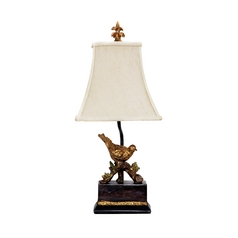 Dimond Lighting Gold Leaf, Black Table Lamp with Square Shade