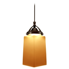 Wac Lighting Early Electric Collection Dark Bronze LED Mini-Pendant with Rectangle